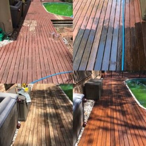 Timber deck cleaning Brisbane