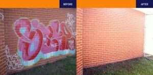 high pressure graffiti removal Brisbane, Ipswich, Logan and the Gold Coast