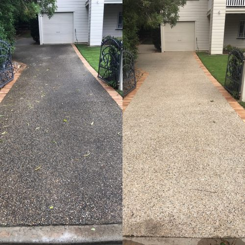 Driveway sealing gold coast waterworx pressure cleaning for Cleaning concrete paths