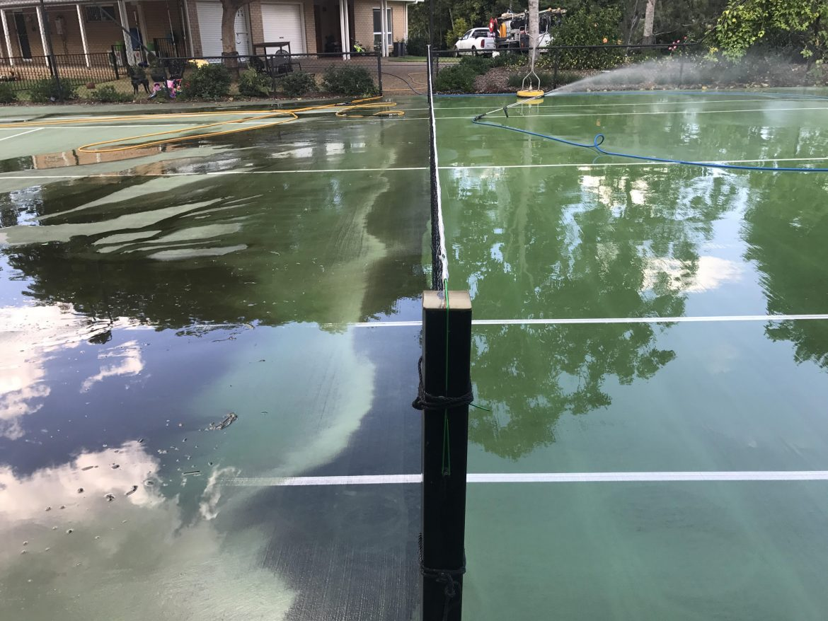 Tennis Court Cleaning Sports Surface Cleaning