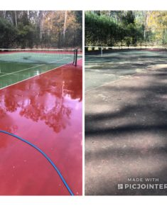tennis court cleaning Brisbane